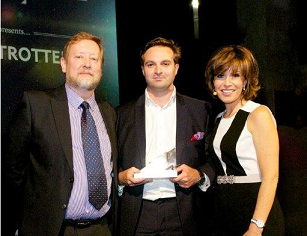 Image L-R: Mark Fenn from  Microbiological Solutions; Carl Hasty from Smart Currency Business; The Brave & The Bold host Natasha Kaplinsky