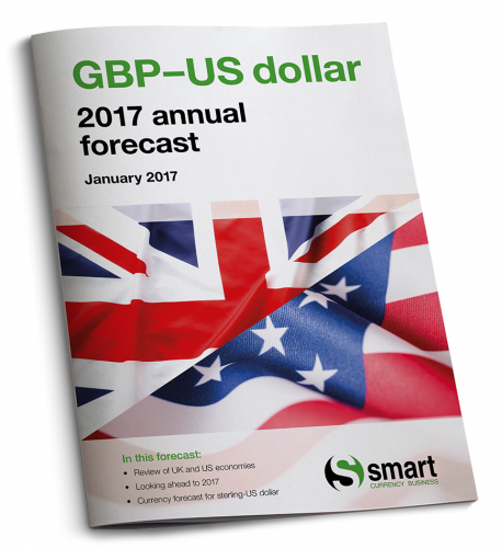 Sterling-US dollar 2017 annual forecast