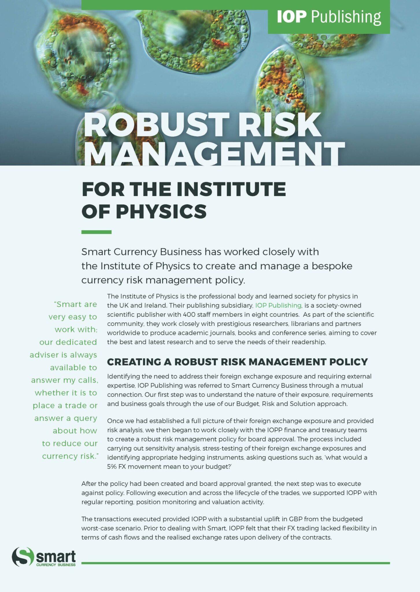 Institute of Physics Case Study