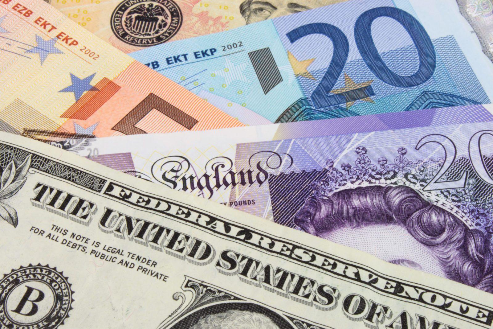 Pound euro dollar